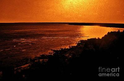 Moonlit Night Photograph - Moonlit Copper Bay by Marsha Heiken