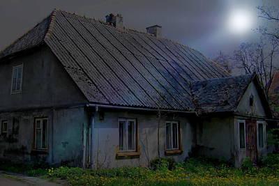Photograph - Moonlit Cottage by Anthony Dezenzio