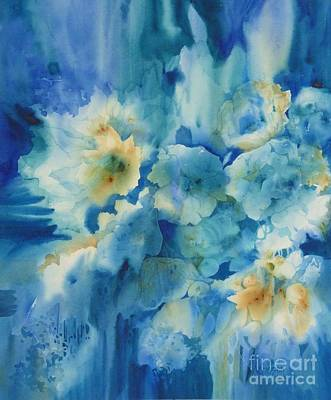 Painting - Moonlit Flowers by Donna Acheson-Juillet