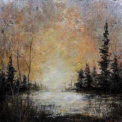 Digital Art - Moonlit Forest Landscape by Carla Parris