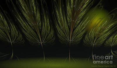 Moonlit Forest Art Print by Sandra Bauser Digital Art