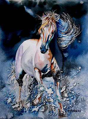 Moonlit Gallop Art Print by Maria Barry