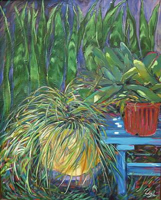 Moonlit Garden Art Print by Karen Doyle