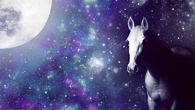 Photograph - Moonlit Horse by Larah McElroy