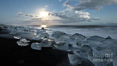 Photograph - Moonlit Ice Beach by Roddy Atkinson