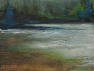 Painting - Moonlit Inlet 2 by Jani Freimann