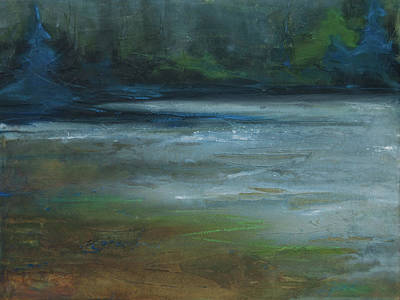 Painting - Moonlit Inlet by Jani Freimann