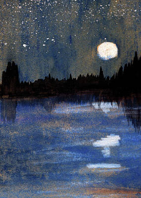 Painting - Moonlit Isolation by R Kyllo