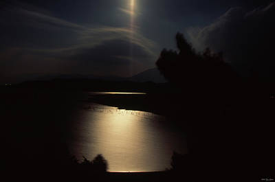 Moonlit Night Photograph - Moonlit Kissack Bay - Lake Isabella by Soli Deo Gloria Wilderness And Wildlife Photography