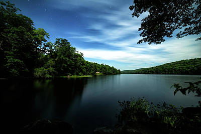 Photograph - Moonlit Lake by Geoffrey Coelho