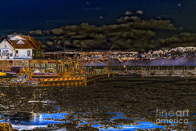 Photograph - Moonlit Marina by William Norton