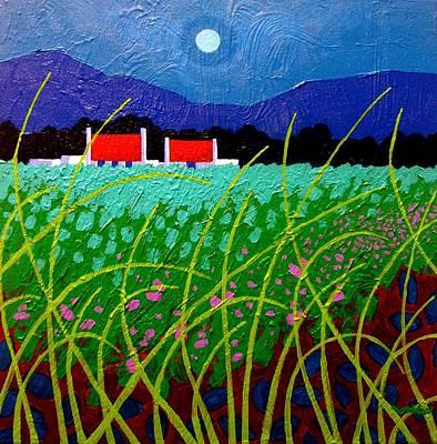 Moonlight Painting - Moonlit Meadow by John  Nolan
