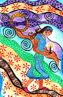 Moonlit Meditation Art Print by Lisa Cioppettini