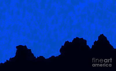 Digital Art - Moonlit Mountain by Tim Richards