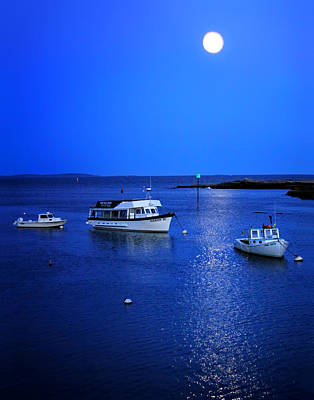 Photograph - Moonlit Night In Maine by Carolyn Derstine