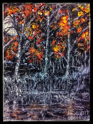 Painting - Moonlit October Woods by Joan-Violet Stretch
