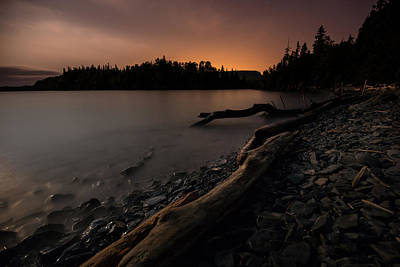 Gichigami Photograph - Moonlit Perry Bay Sunset Glow by Jakub Sisak