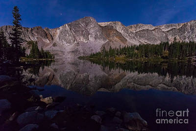 Moonlit Reflections  Art Print by Steven Reed