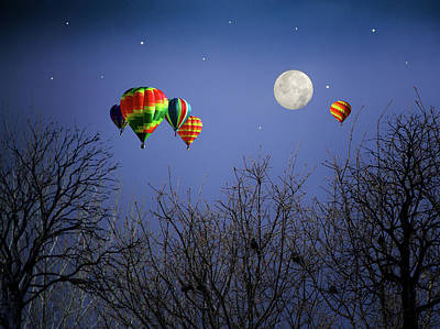 Photograph - Moonlit Ride by Diane Schuster