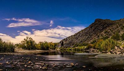 Arizona Photograph - Moonlit Salt River by Chuck Brown