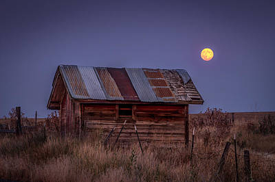 Lewiston Photograph - Moonlit Shed by Brad Stinson