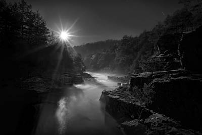 Photograph - Moonlit Shut-ins by Robert Charity