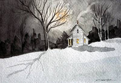 Painting - Moonlit Snow by Francis Chester