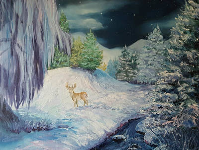 Painting - Moonlit Surprise by Sharon Casavant