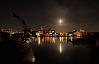 Photograph - Moonlit Waterfront by Denis Lemay
