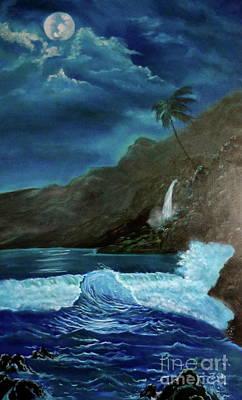 Moonlit Wave Art Print