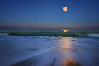 Photograph - Moonlit Wave by Justin Kelefas