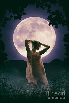 Photograph - Moonlit Woman by Clayton Bastiani