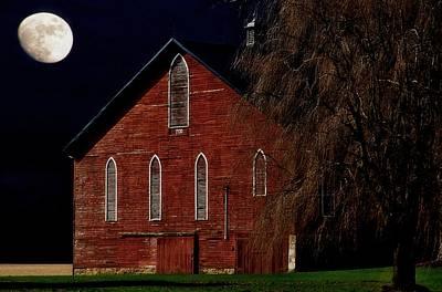 Photograph - Moonlite 1900 Barn by Stephanie Calhoun