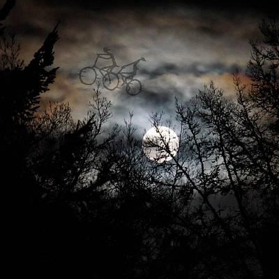Digital Art - Moonlite Ride by Nick Kloepping