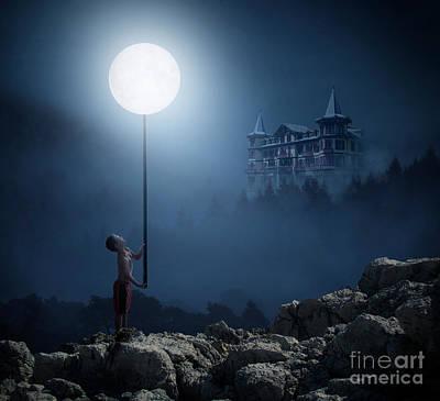 Digital Art - Moonplay by Bruno Santoro