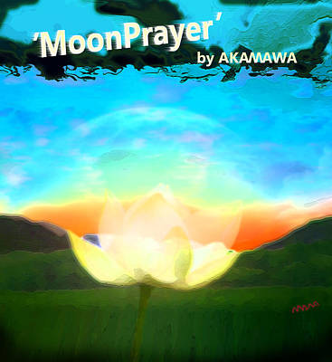 Painting - Moonprayer by Marco Akamawa