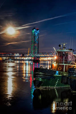 Nh Photograph - Moonrise Across Two States by Scott Thorp