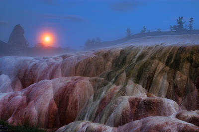 Photograph - Moonrise At Mammoth by Steve Stuller