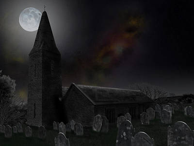 Digital Art - Moonrise At St Germanus by Nigel Follett