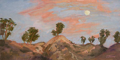 Painting - Moonrise At Sunset by Jane Thorpe