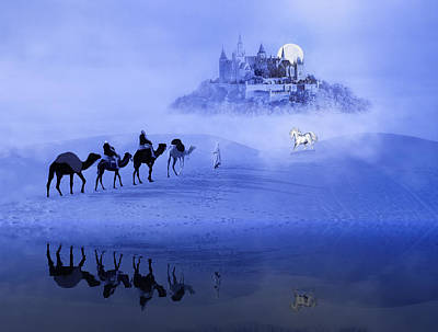Photograph - Moonrise At The Magical Oasis by Diane Schuster