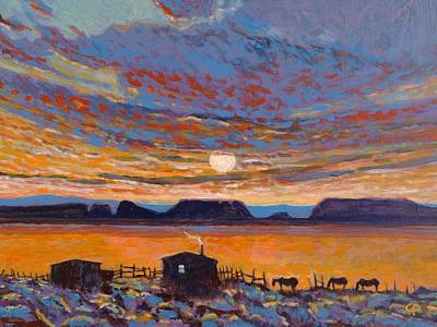 Maynard Dixon Painting - Moonrise by Charlie Pickens