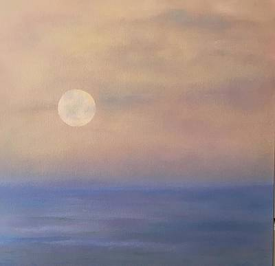 Painting - Moonrise by Flo Markowitz