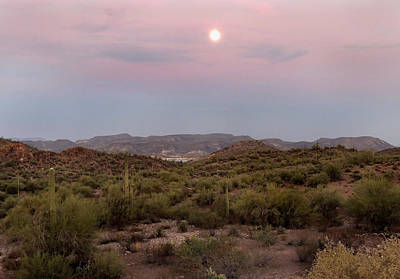 Apache Creek Photograph - Moonrise by Gordon Beck