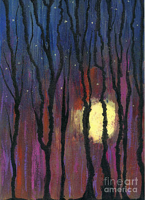 Mixed Media - Moonrise In December by Cyndi Lavin