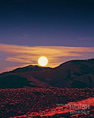 Photograph - Moonrise In Northern New Mexico  by Charles Muhle