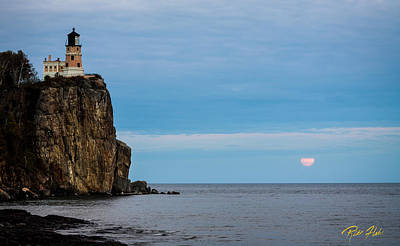 Photograph - Moonrise Into The Clouds At Split Rock by Rikk Flohr