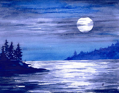 Painting - Moonrise Magic by Brenda Owen