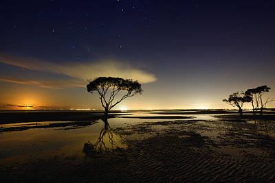 Night Photograph - Moonrise by Mel Brackstone