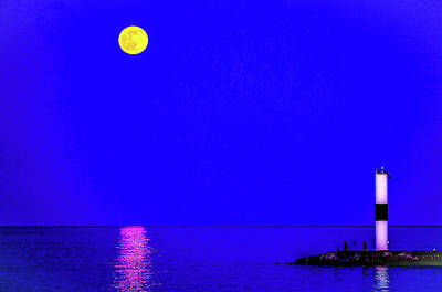 Photograph - Moonrise by Michael Nowotny